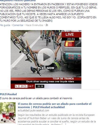 en este el gazapo es un ciclista del Tour atropellado