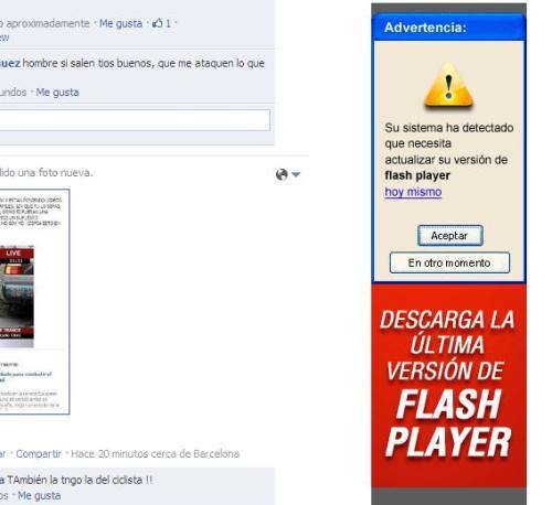 Aquí el anuncio gazapo se lo han currado porque es de descarga el programa famoso flash
